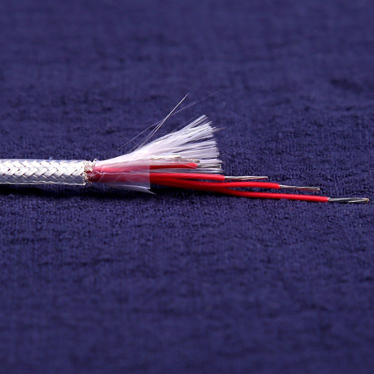 AFPF-6*7/0.15PT100耐高温镀银铂电阻测温屏蔽线引线-40-200℃