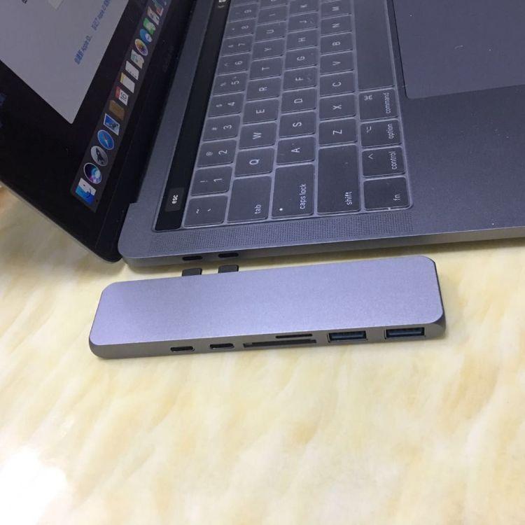 双TYPE-C转HUB读卡器 HDMI 4K 完美兼容 2018 macbook 扩展坞