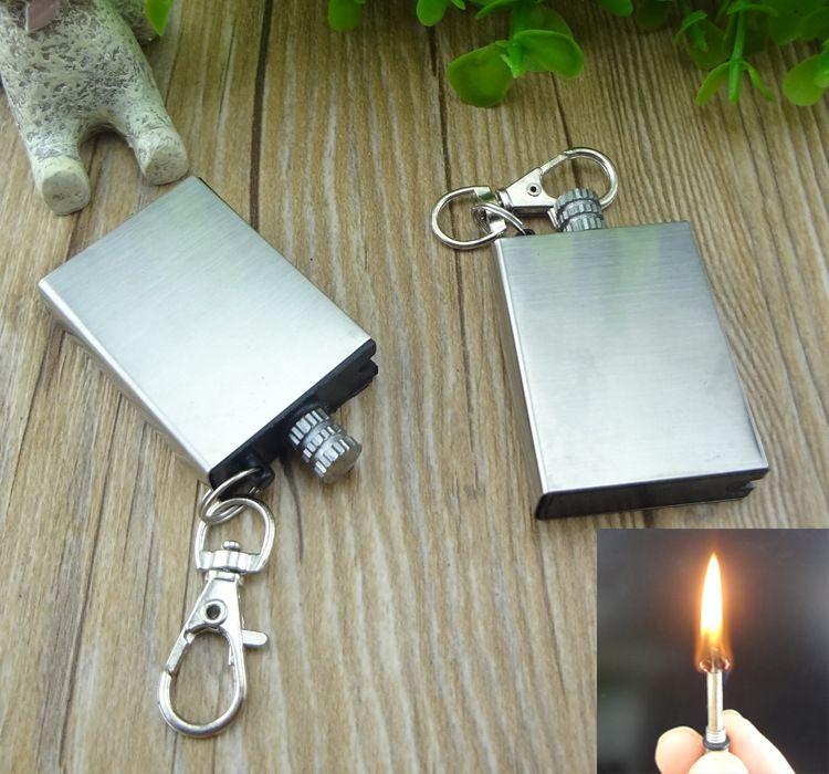 防水万次火柴 钥匙扣火柴 创意煤油火柴打火机金属火石打火机批发
