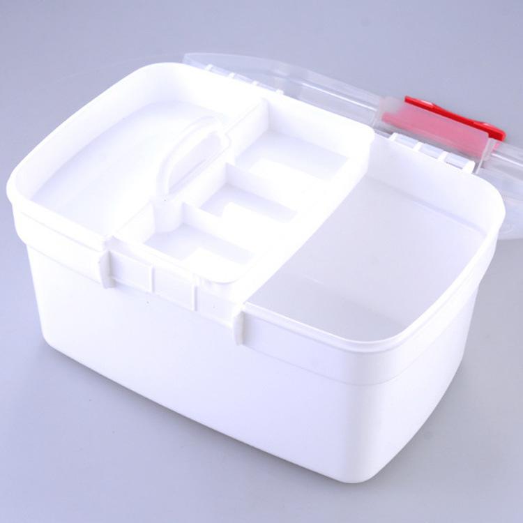 药箱手提家用箱便携式家庭箱中号药箱
