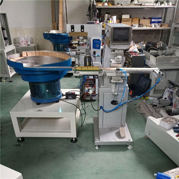 蓝牙耳机印刷机直销 骏晖印刷机械 全自动单色移印机 研发制作企业