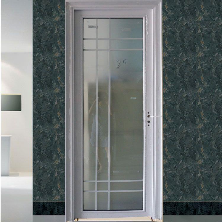 深圳定制白色卫浴门 来图加工铝合金单开门 生产批发卫生间玻璃门