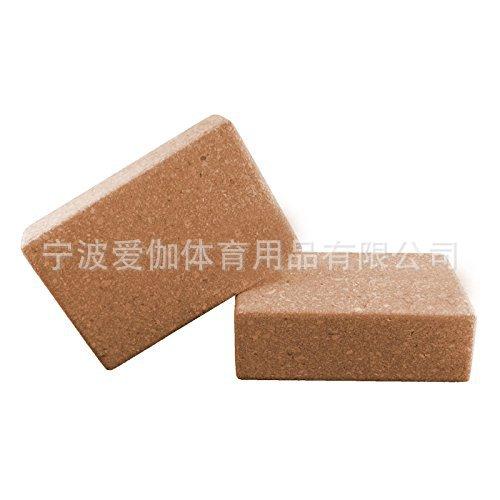 现货供应高品质软木瑜伽砖 高密度实木砖,瑜伽配件,可定制logo
