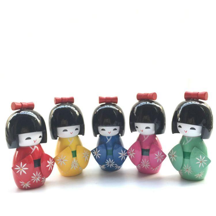 大号单个装日本娃娃摆件玩偶和服娃娃木偶木质工艺品家居摆件礼品