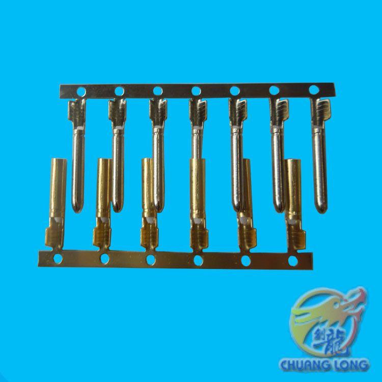 【创龙】供应1.5快速插铜管端子,1.5mm防水铜管公母端子