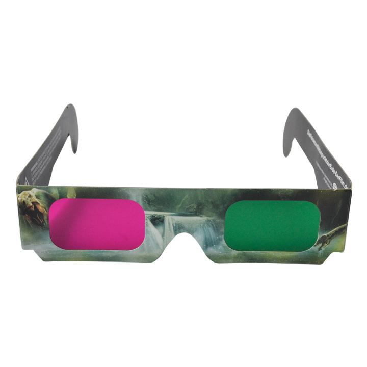 3D立体纸质眼镜 一次性3D眼镜 红蓝红青眼镜