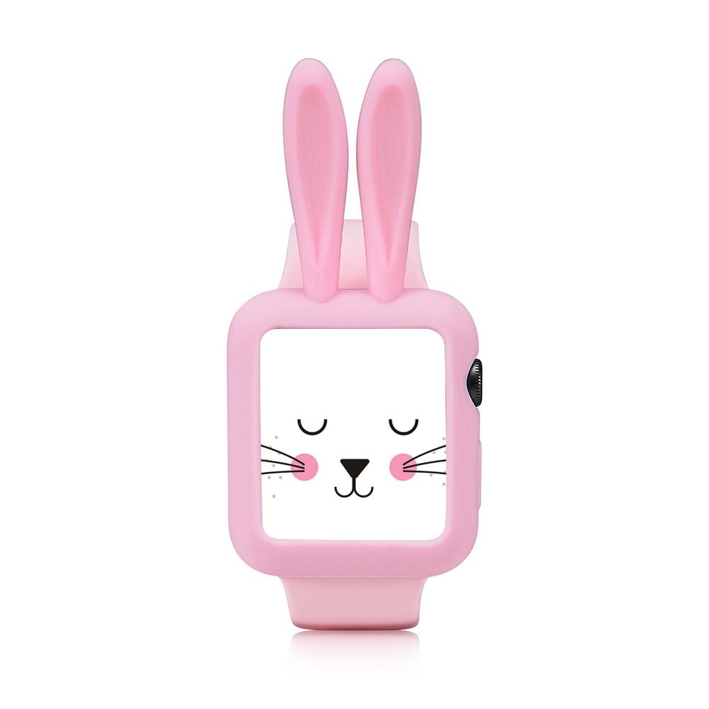适用于苹果Applewatch兔子硅胶保护套苹果手表保护壳创意保护套