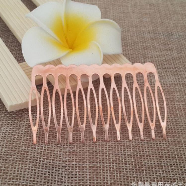厂家直销 优质红铜12齿插梳 马眼梳 可DIY发叉 发饰配件