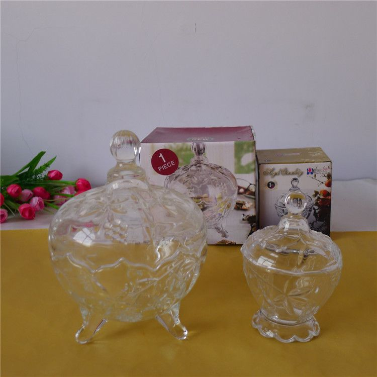 新款糖果盒玻璃透明创意婚庆糖果杯家居用品摆件礼品批发量大优惠