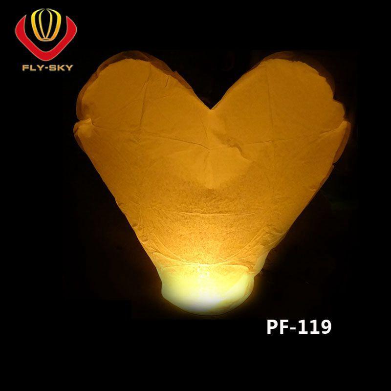 红色爱心形状浪漫温馨阻燃孔明灯天灯许愿灯 厂家批发 可印刷
