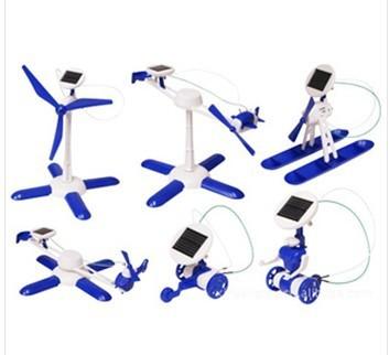 供应 厂家直销 6合一太阳能益智类玩具 太阳能变幻装备