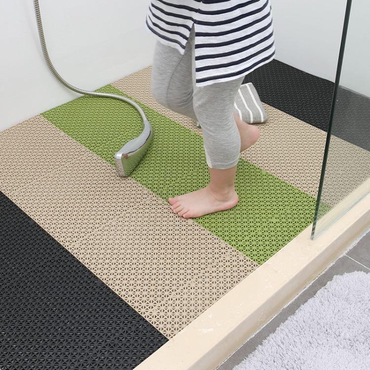 浴室拼接地垫卫生间防滑垫淋浴房厕所脚垫隔水满铺可裁剪无味加厚