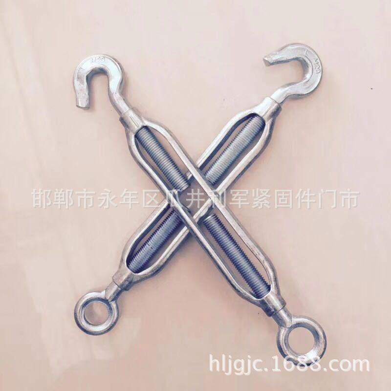 现货供应花篮螺栓 国标开题花篮螺丝 钢丝绳锁具 开体花兰M5-100