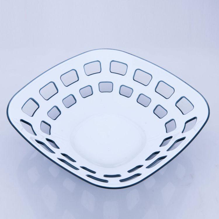 创意家用塑料果盘 厨房色拉碗瓜子水果盘 新款干果炒货碗果篮批发