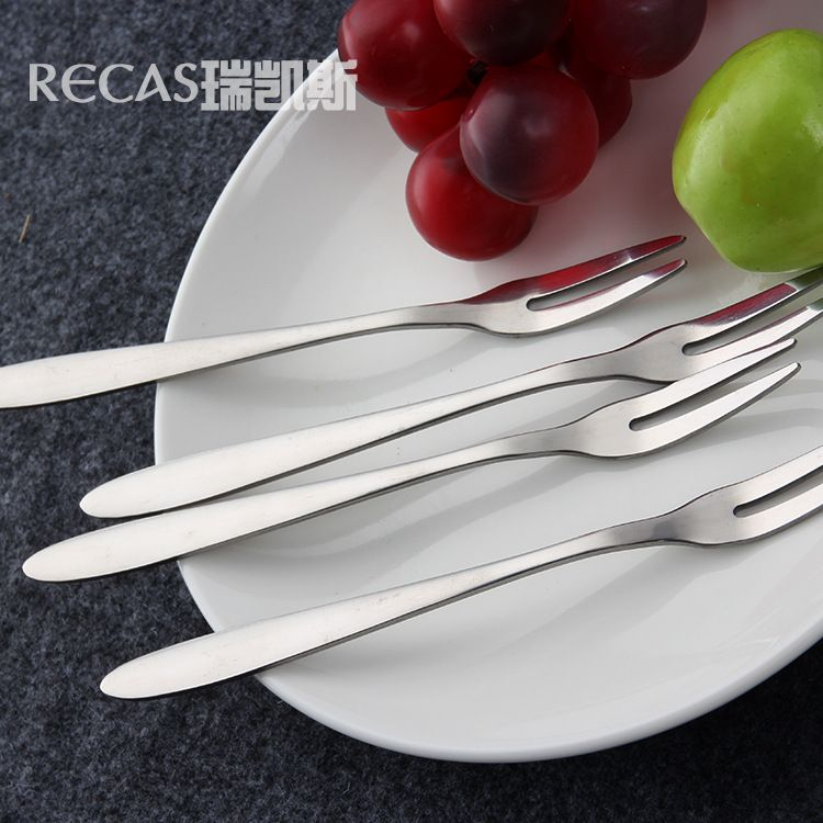 厂家批发不锈钢叉子 水果签甜品冰淇淋蛋糕叉 西餐厅餐具专用