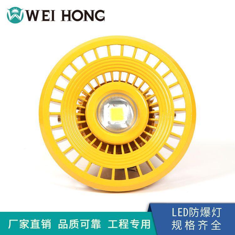 威虹厂家供应LED免维护防爆灯 加油站圆形LED防爆应急照明灯