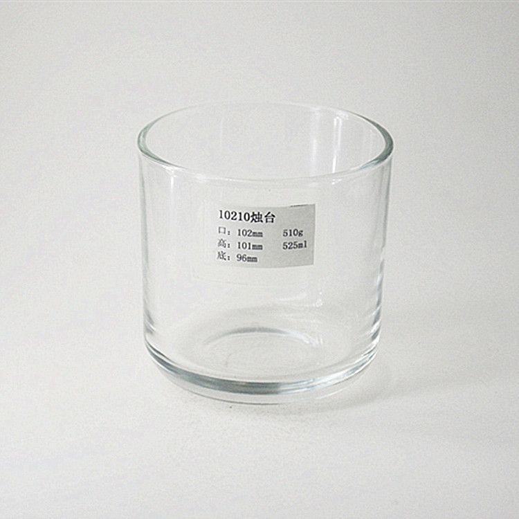 厂家直销透明高白料玻璃杯 烛台杯 储物罐 可蒙砂 喷色 电镀 定制