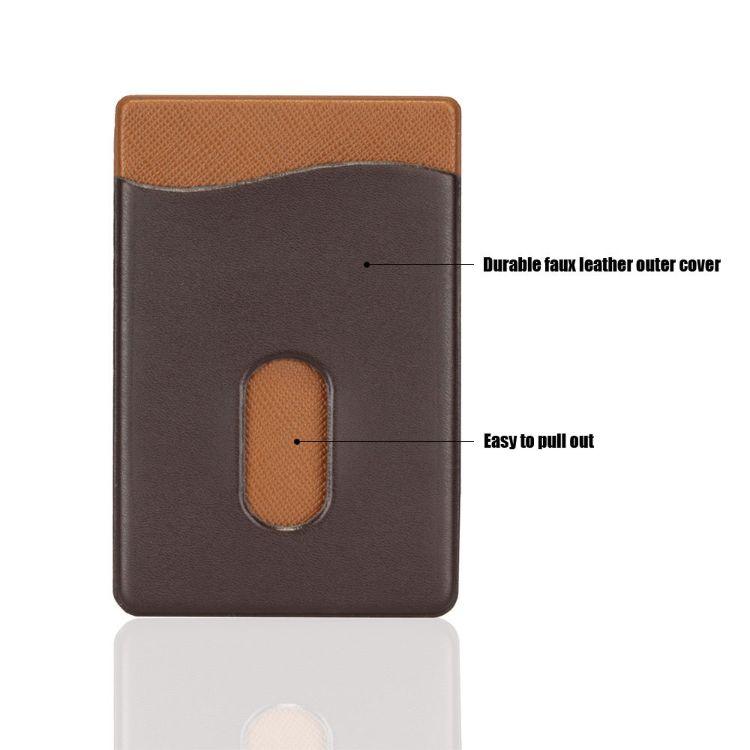源头工厂 新款 通用3M背胶莱卡手机贴 卡袋 卡套订制 量大从优