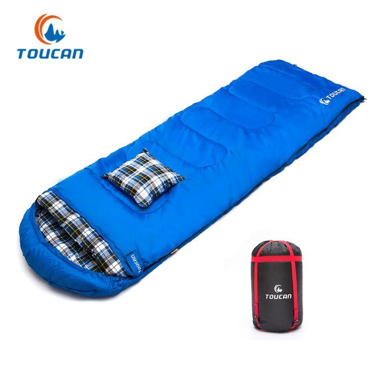睡袋成人户外旅行冬季四季保暖室内露营双人隔脏羽绒棉睡袋可拼接