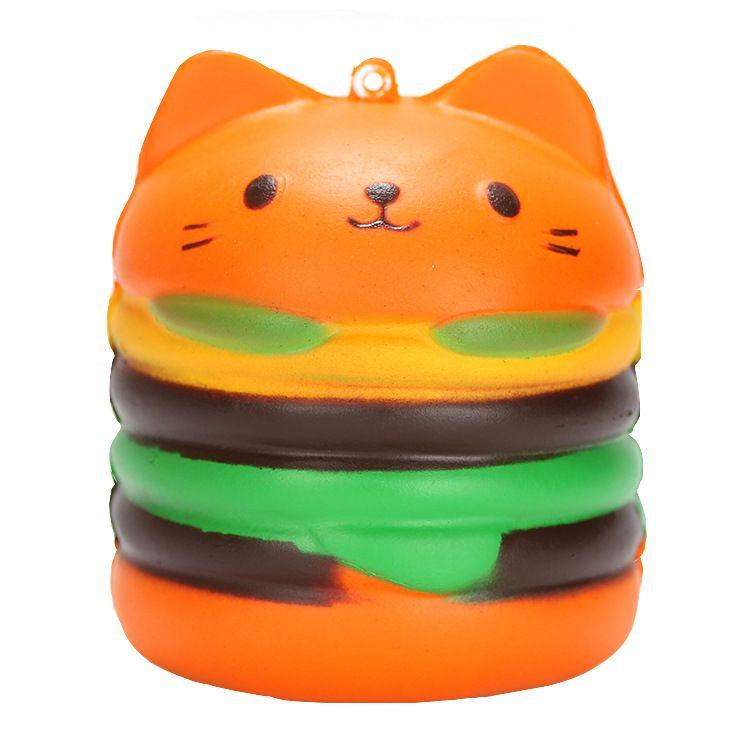 厂家直销柔软慢回弹减压玩具发泄降压玩具汉堡猫捏捏乐,量大价优