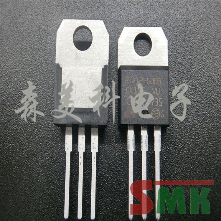 双向可控硅 BTA12-600B 12A/600V TO220 进口原装现货