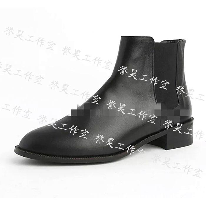 新款女靴鞋楦中跟短靴女楦头广州鞋模厂 鞋材批发