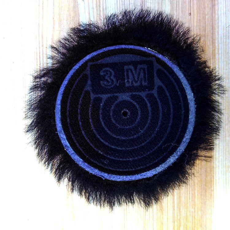 厂家直销批发 黑色 皮毛一体 85103 3寸7.5厘米 羊毛球 抛光盘套
