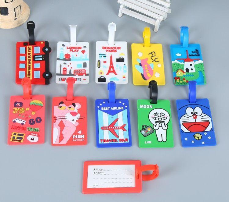 新款创意卡通滴胶行李牌 硅胶行李牌定制 pvc软胶行李吊牌