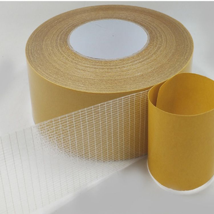 涂胶厂家生产网格玻璃纤维双面胶门窗密封条强力加粘双面胶