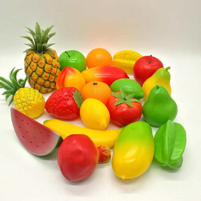 惠丽 多款仿真水果 塑料假香蕉苹果装饰 摄影模型 儿童早教道具 厂家批发