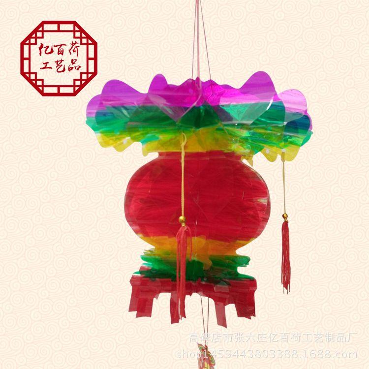 亿百荷 五彩葫芦宫灯 招财灯水晶葫芦热销产品节庆挂饰 厂家直销