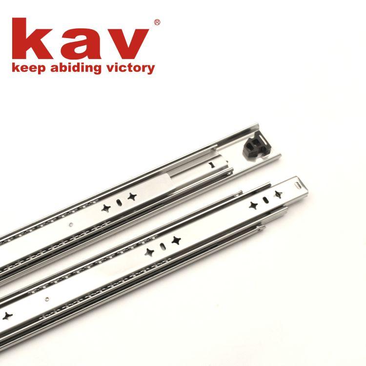 kav家具五金配件 53宽三节重型滑轨 设备工业柜滑轨 抽屉轨道