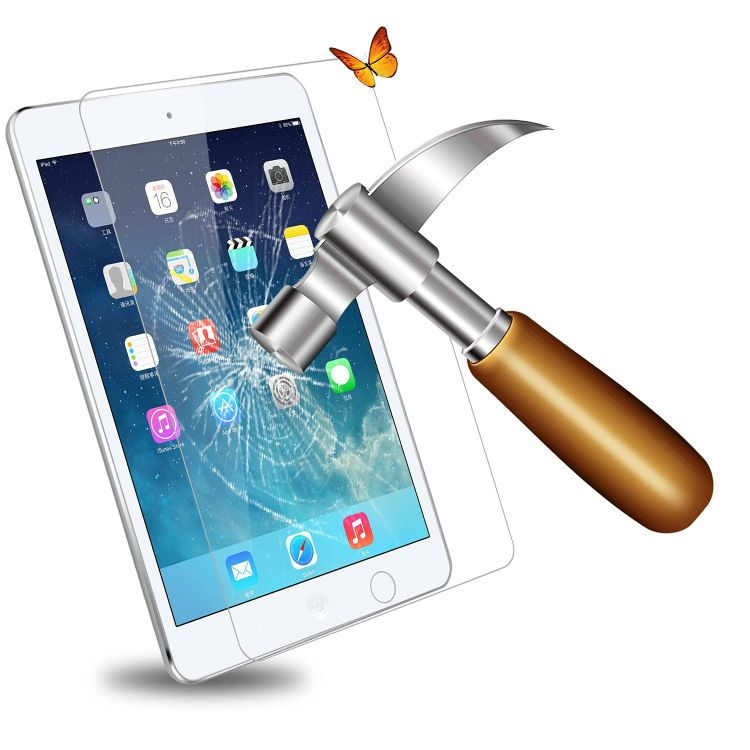厂家直销平板钢化膜弧边适用于苹果ipad air2 屏幕保护膜