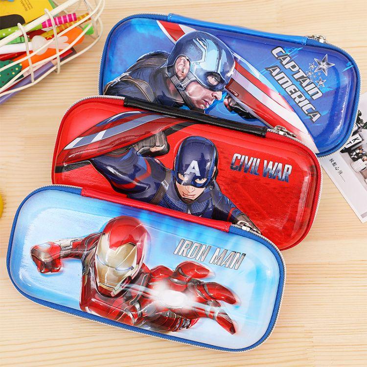 复联3美国队长卡通EVA文具盒多功能铅笔盒笔盒EVA包定制