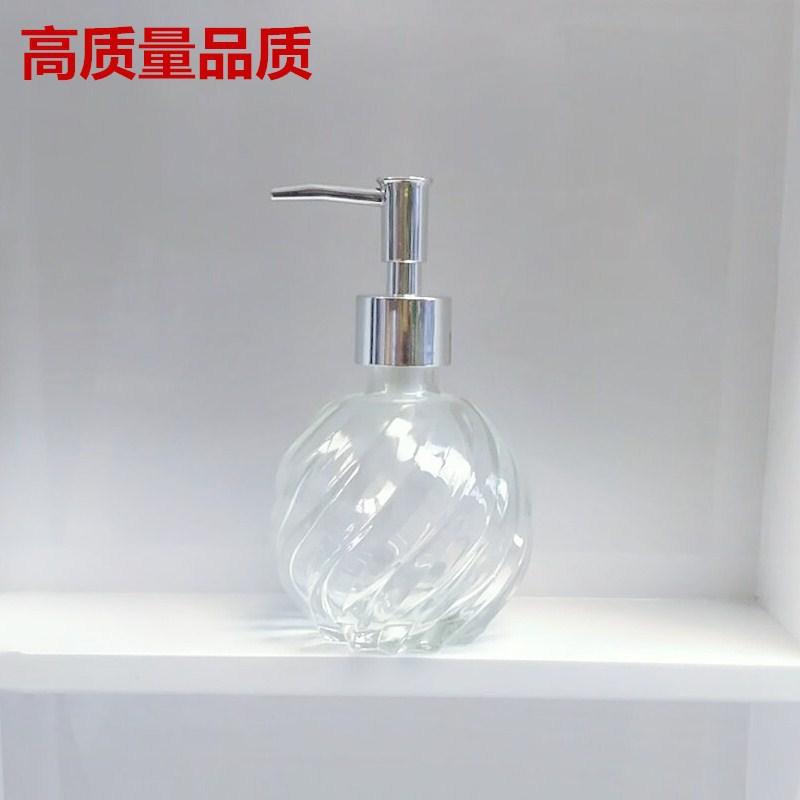 玻璃洗手液瓶 欧式时尚沐浴露瓶酒店美容店按压式乳液分装瓶慕斯