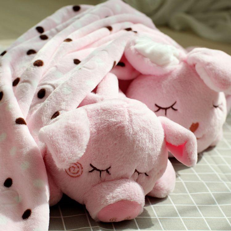 卡通可爱狗狗午睡枕头汽车抱被两用靠枕抱枕毯毛绒玩具公仔 批发