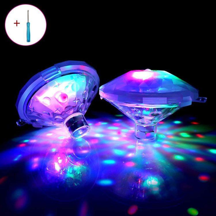 热销单品 新款升级版的led七彩装饰的水漂灯 厂家直销