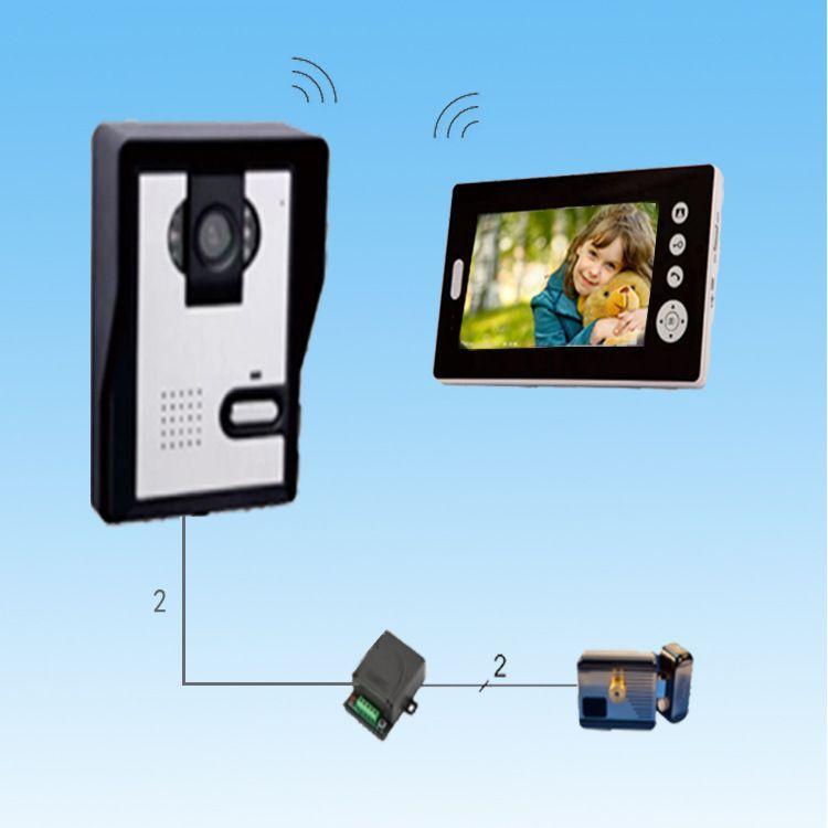 别墅无线可视对讲 可视对讲系统 可视门铃 可视主机 安防报警