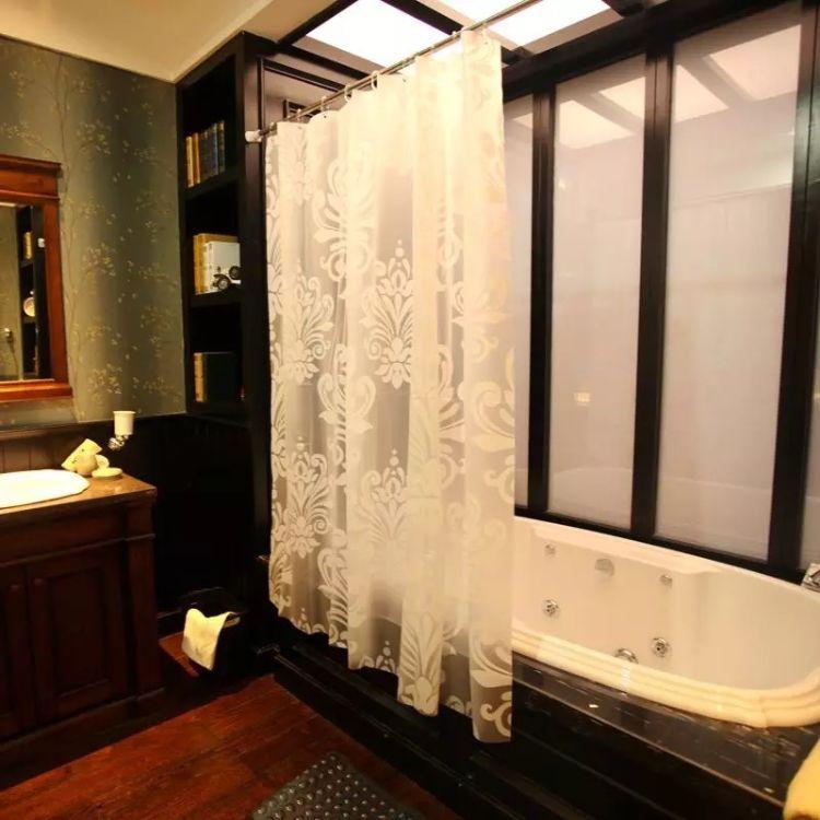 跨境电商亚马逊热销美国欧式eva浴帘透明塑料外贸印花酒店防水
