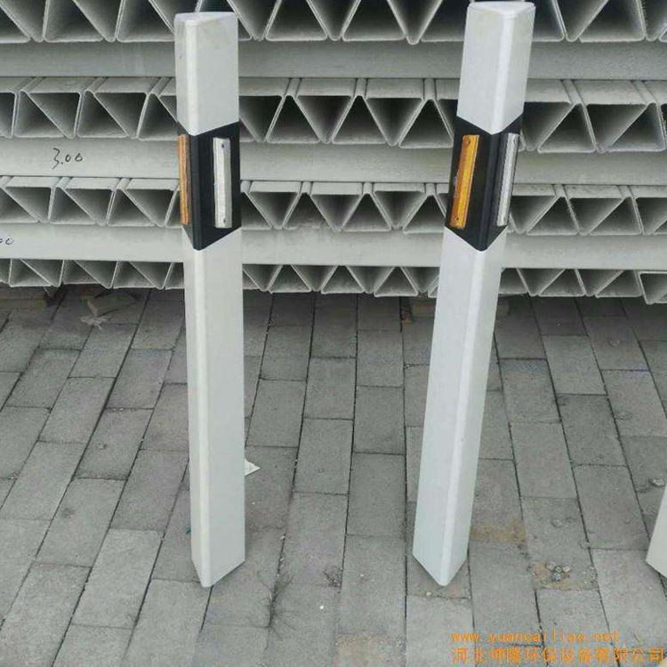 玻璃钢柱式轮廓标百米桩里程碑反光铁路交通电力轮廓标警示牌 昌润玻璃钢