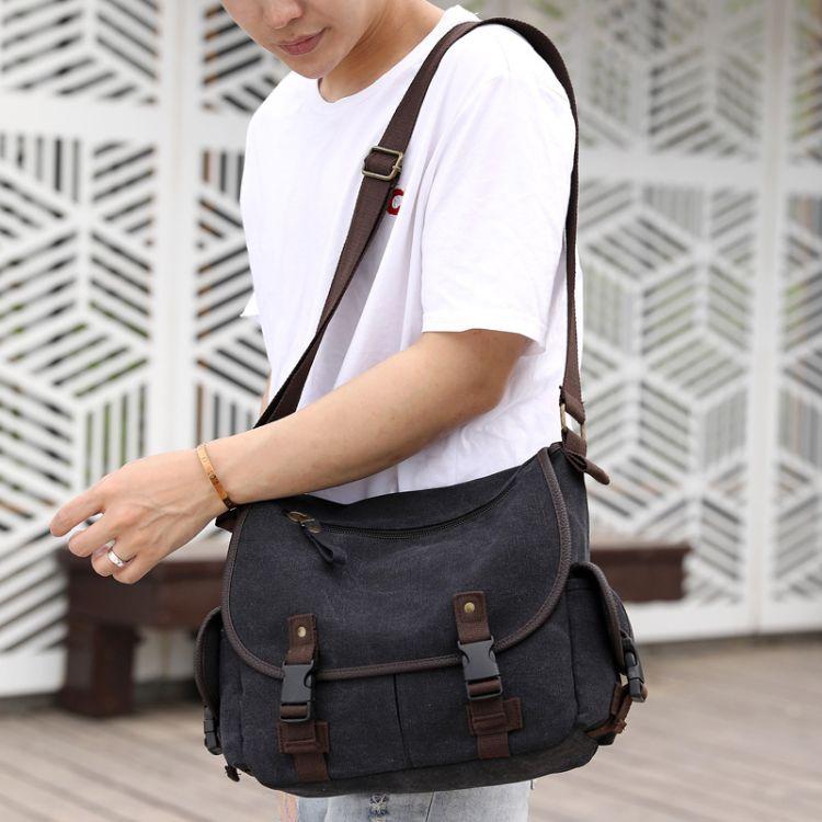 厂家直销手提包帆布单肩包斜挎包男士时尚潮包休闲韩版IPAD休闲包