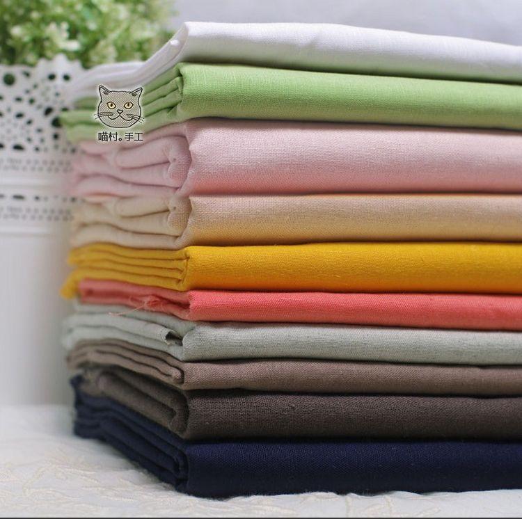 317亚麻棉 布料  麻棉混纺面料    亚麻棉布48个颜色现货供应