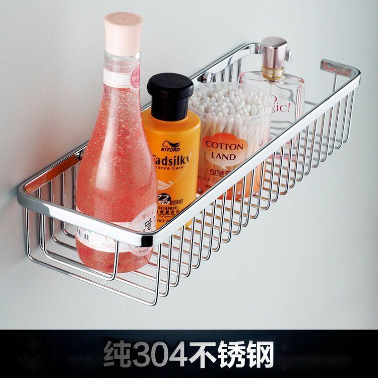 卫浴用品不锈钢角架 单层304不锈钢 四方角篮 卫生间置物架