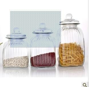 各种规格南瓜储物玻璃罐 厨房专用储物玻璃罐配套盖子