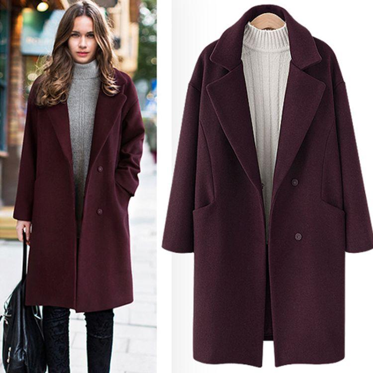 毛呢大衣中长款加厚9641