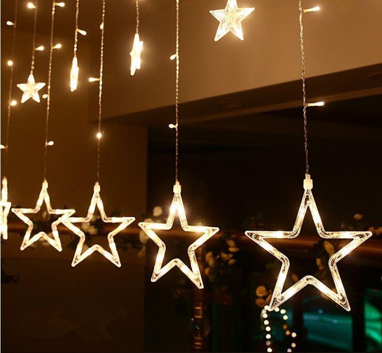 彩灯闪灯串灯满天星户外防水霓虹ktv酒吧圣诞装饰窗帘灯led