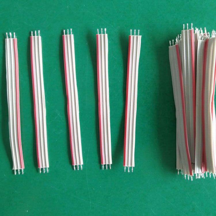 红边灰排线 间距1.0 1.27 2.0 2.54 绞铜镀锡/半剥留胶 2P至24P