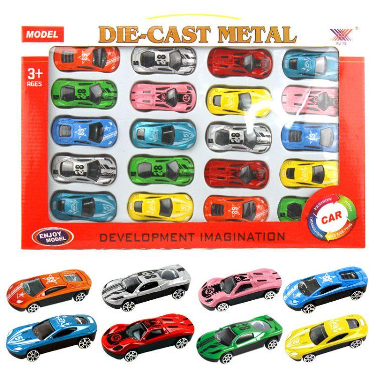 新款合金车车模型玩具儿童小型滑行回力惯性车玩具厂家直销