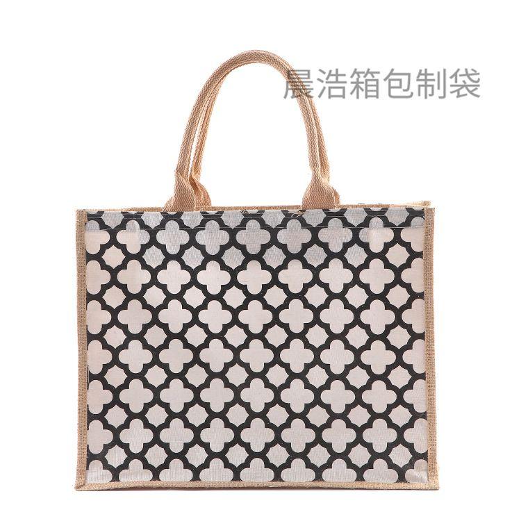 热销厂家供应手提麻布袋定做优质创意美观环保时尚广告购物包装袋