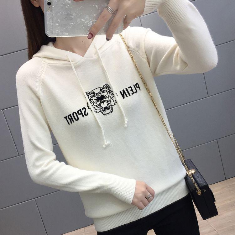2018秋冬新款韩版长袖女毛衣衫女士学生时尚休闲针织衫